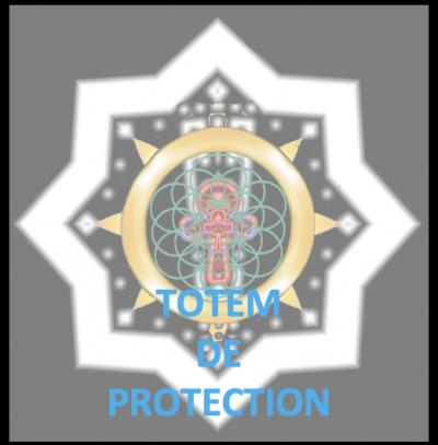totem de protection croix ankh fleur de vie